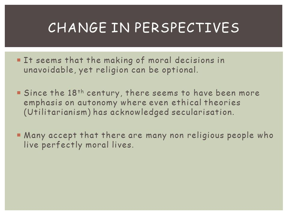 Change in Perspectives