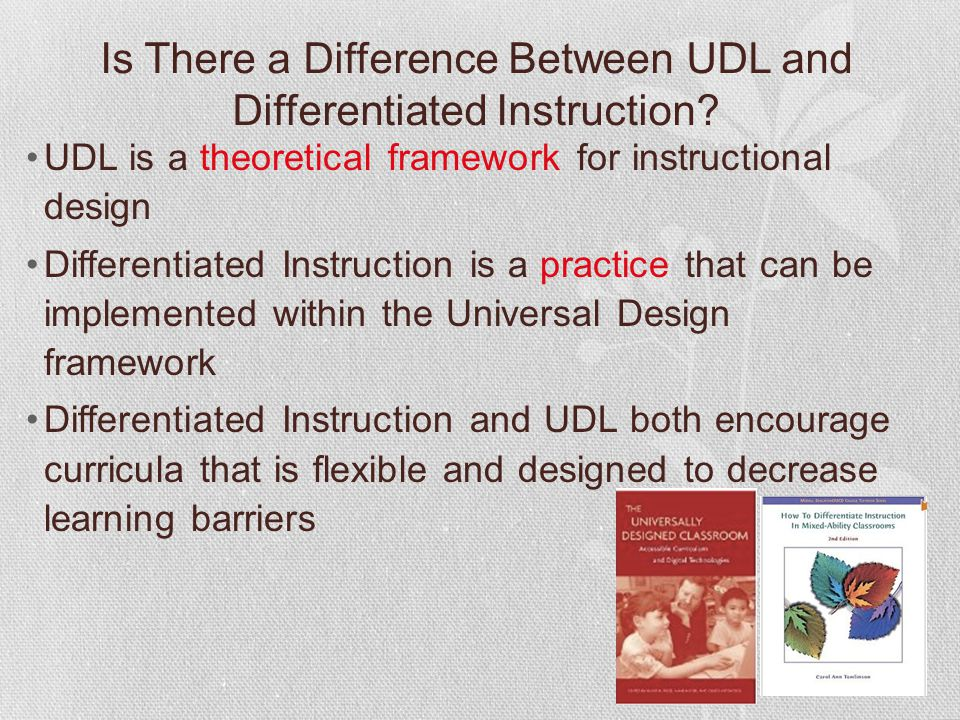 Is There a Difference Between UDL and Differentiated Instruction