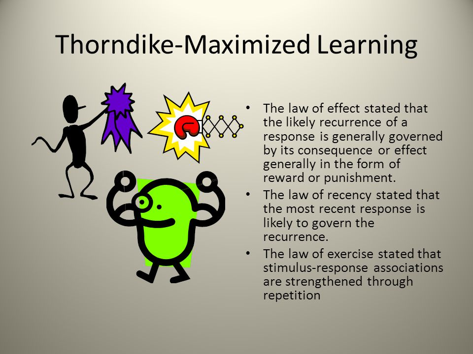 Thorndike-Maximized Learning