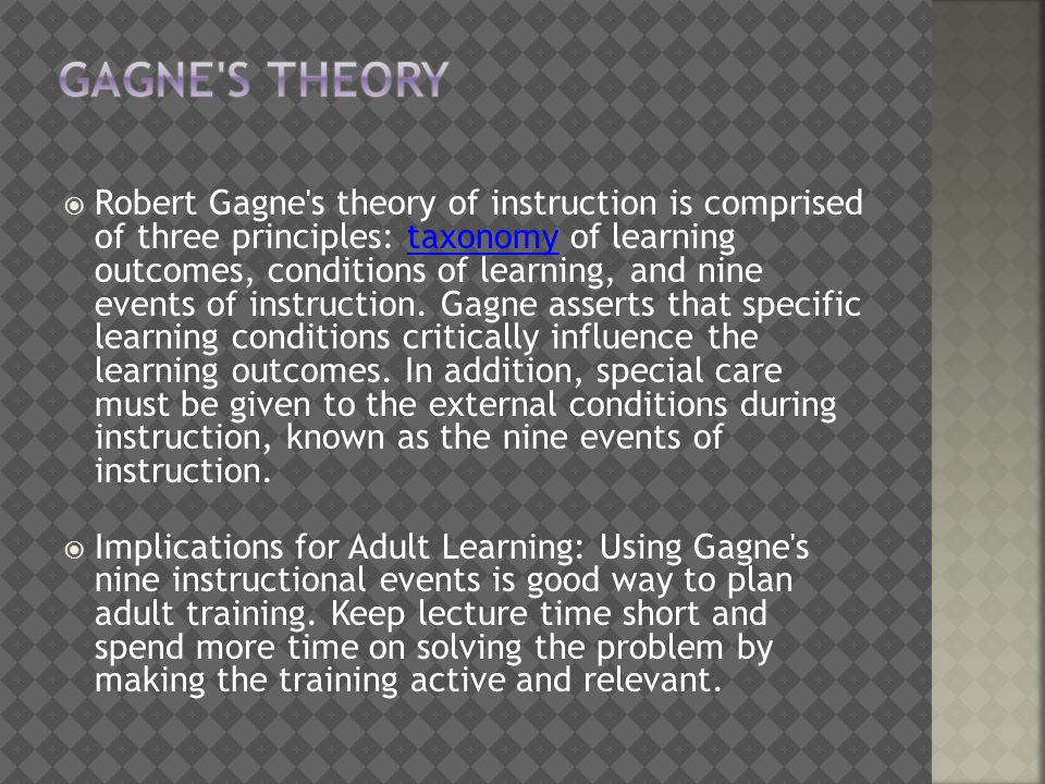 Gagne s Theory