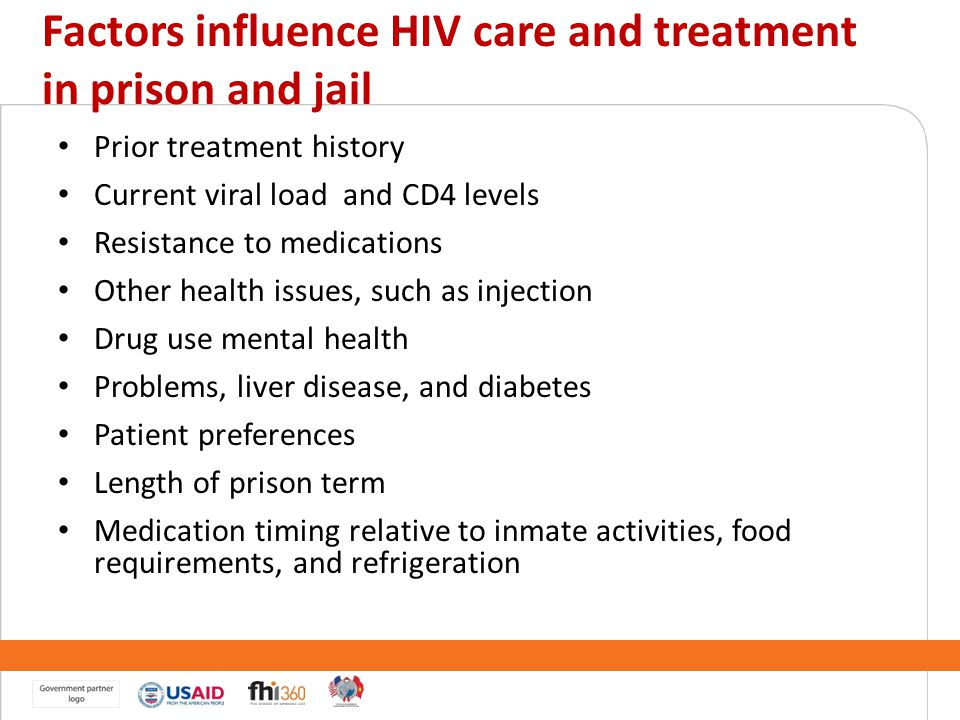Factors influence HIV care and treatment in prison and jail