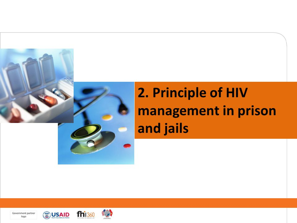 2. Principle of HIV management in prison and jails