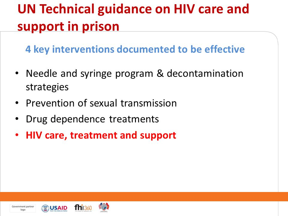 UN Technical guidance on HIV care and support in prison