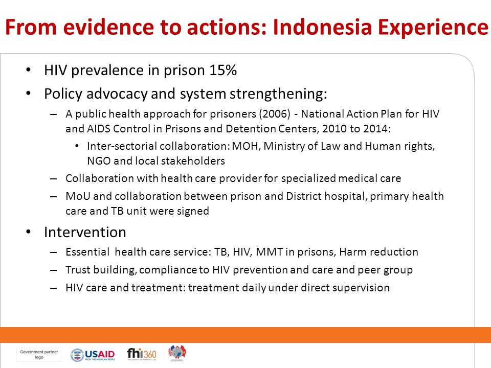 From evidence to actions: Indonesia Experience