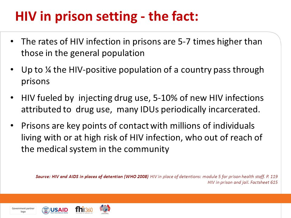 HIV in prison setting - the fact: