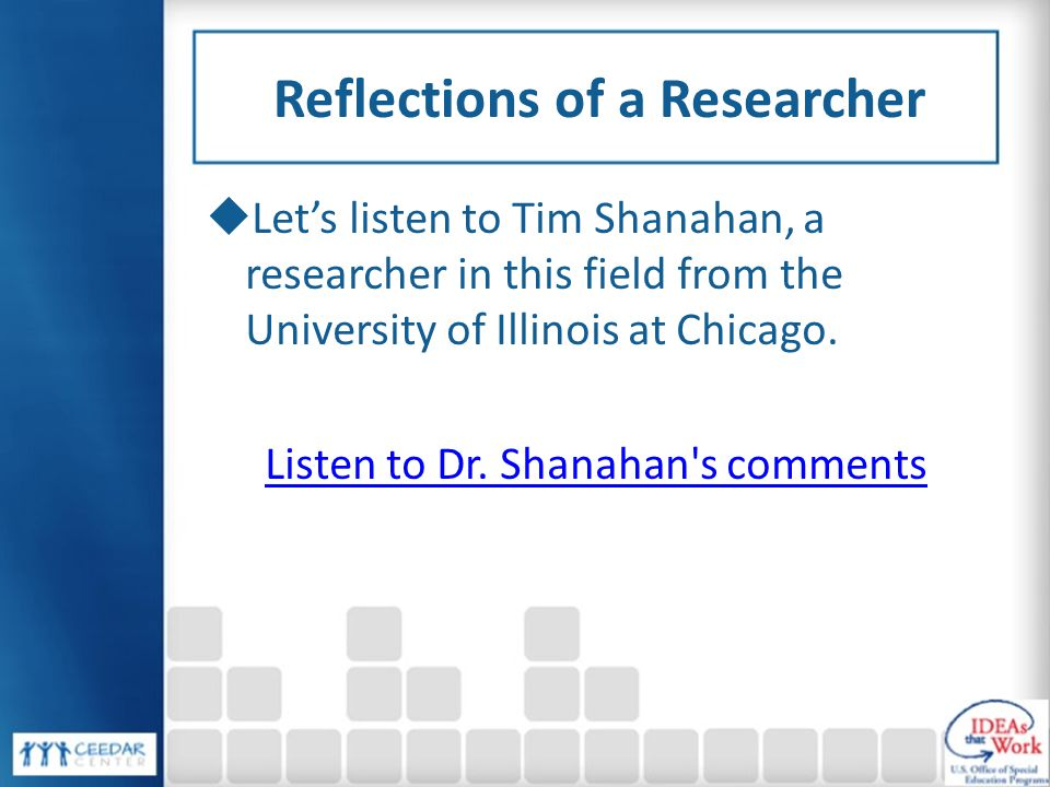 Reflections of a Researcher