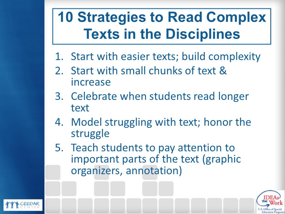 10 Strategies to Read Complex Texts in the Disciplines