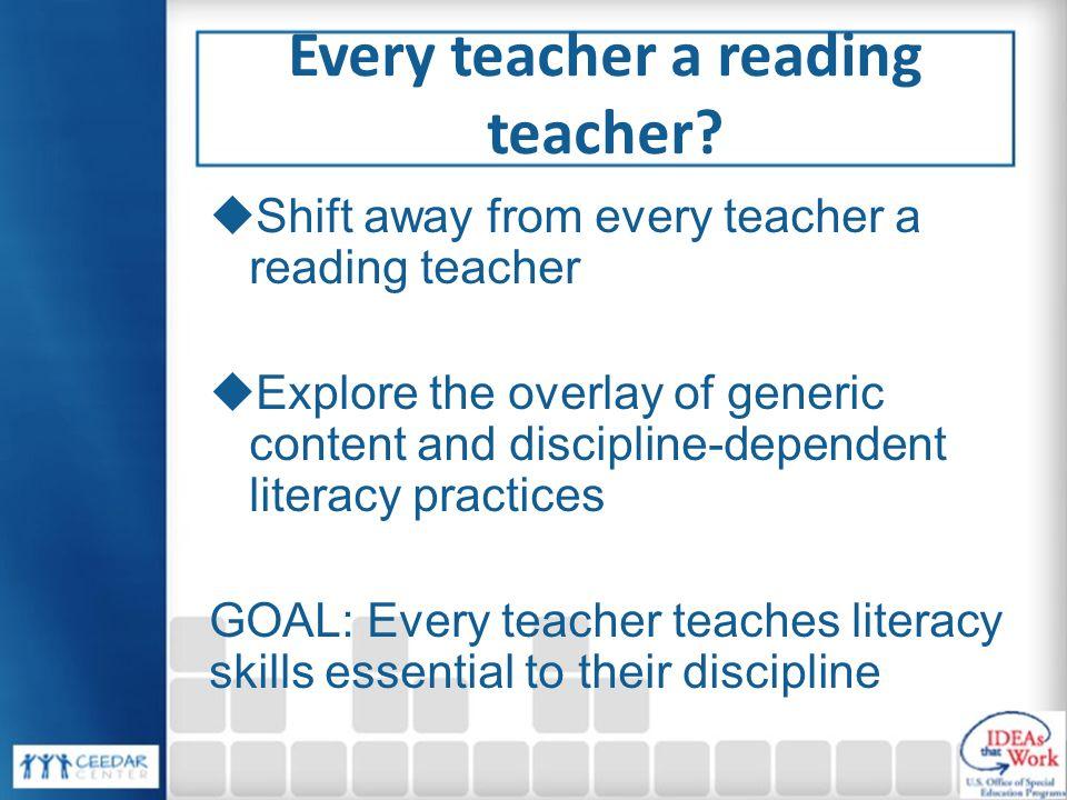 Every teacher a reading teacher