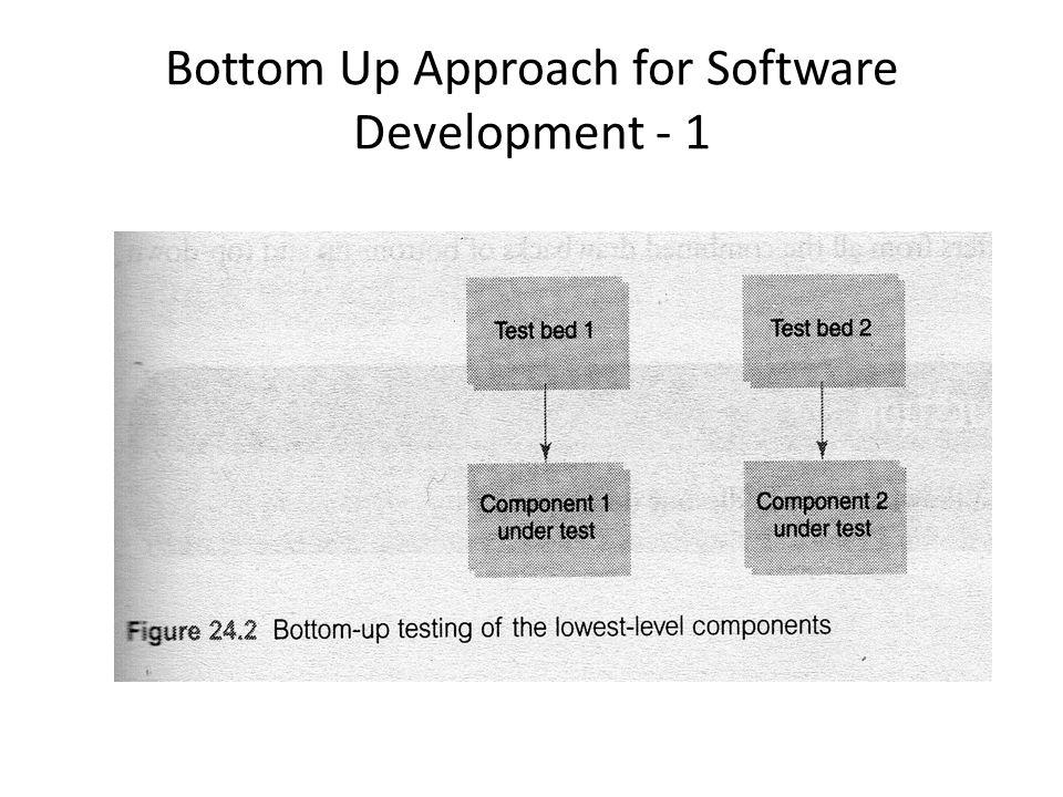 Bottom Up Approach for Software Development - 1