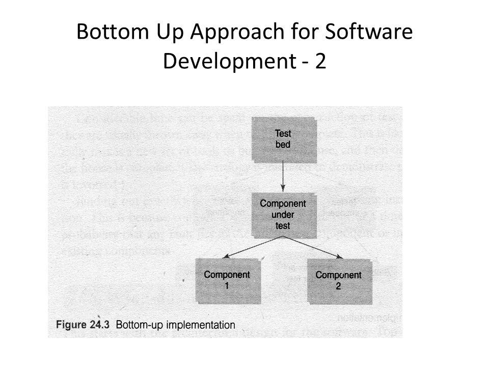 Bottom Up Approach for Software Development - 2