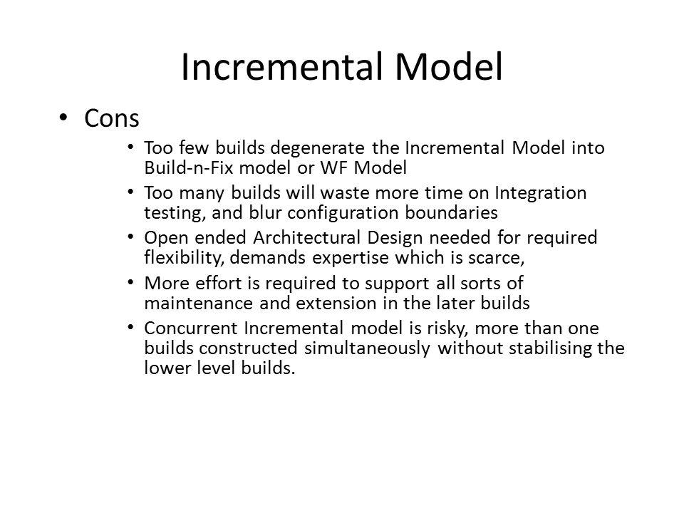 Incremental Model Cons