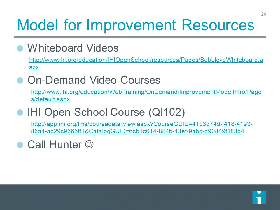 Model for Improvement Resources