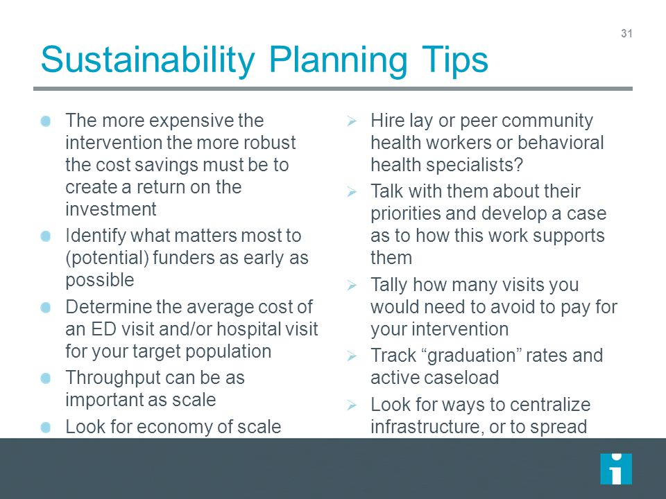Sustainability Planning Tips