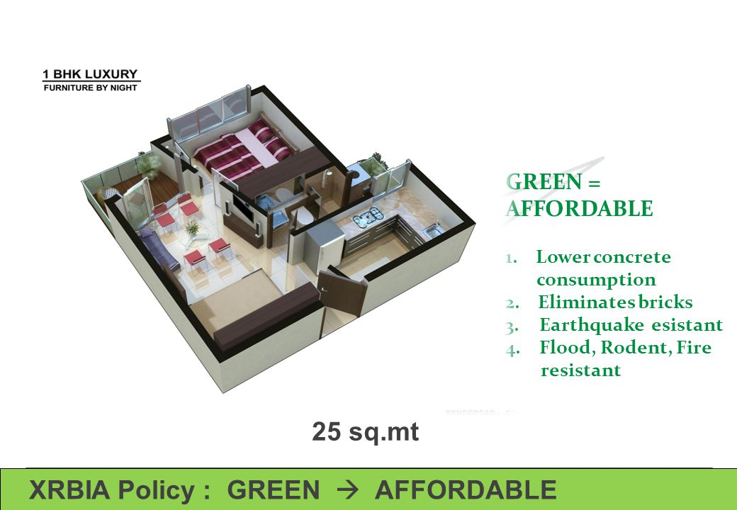 XRBIA Policy : GREEN  AFFORDABLE
