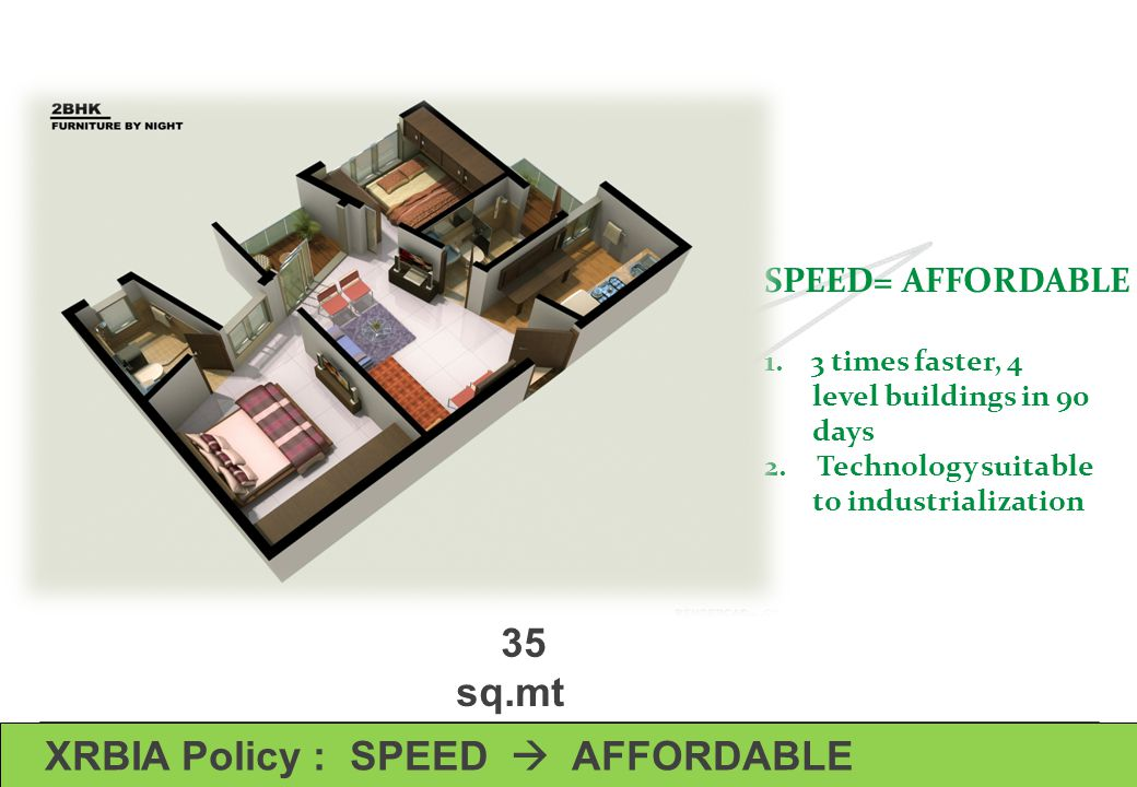 XRBIA Policy : SPEED  AFFORDABLE