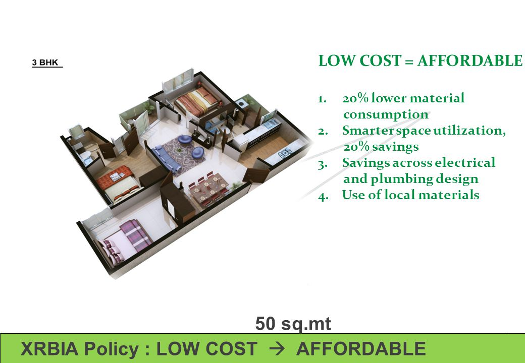 XRBIA Policy : LOW COST  AFFORDABLE