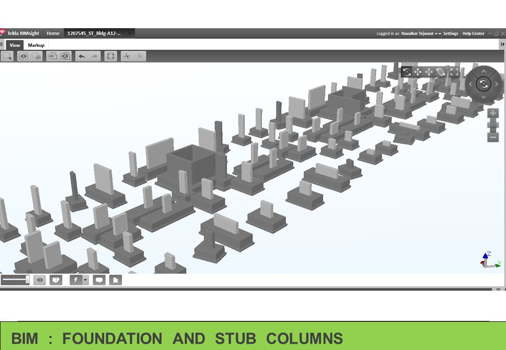 BIM : FOUNDATION AND STUB COLUMNS