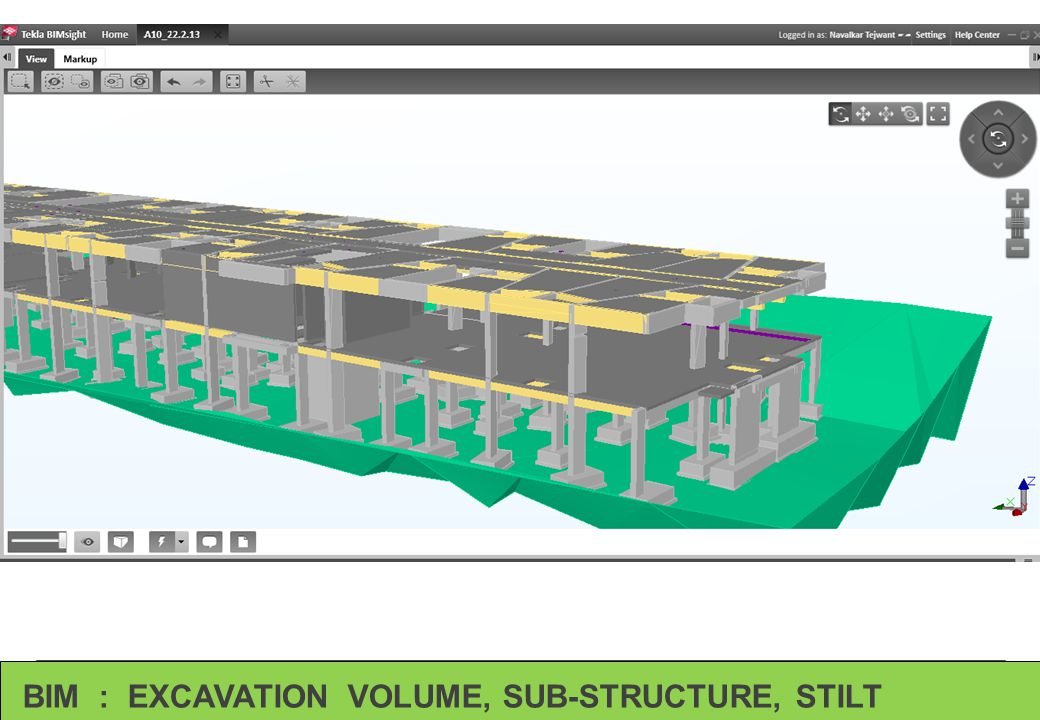 BIM : EXCAVATION VOLUME, SUB-STRUCTURE, STILT