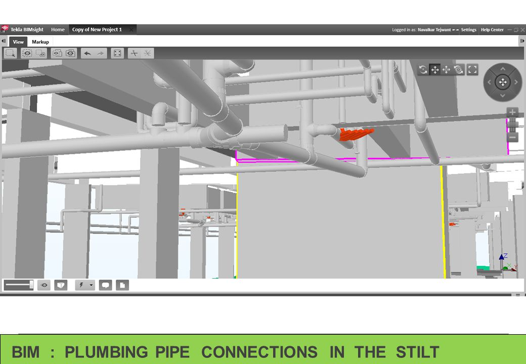 BIM : PLUMBING PIPE CONNECTIONS IN THE STILT