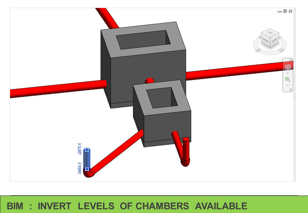 BIM : INVERT LEVELS OF CHAMBERS AVAILABLE