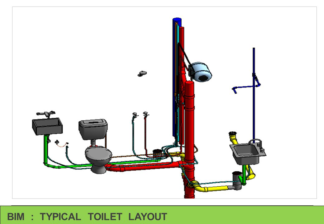 BIM : TYPICAL TOILET LAYOUT