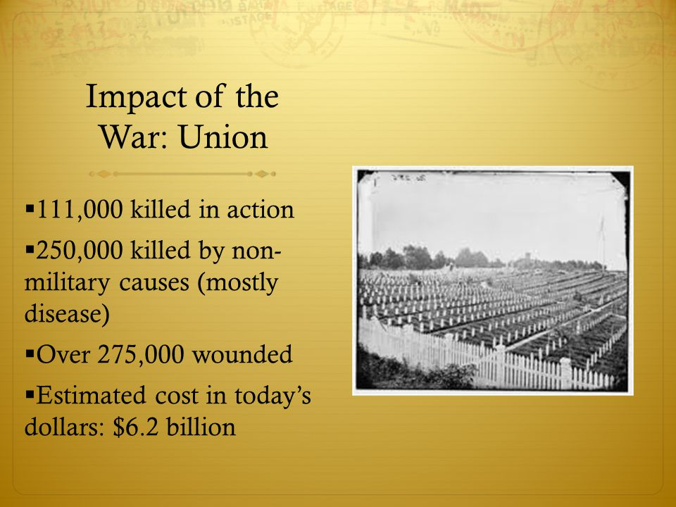 Impact of the War: Union