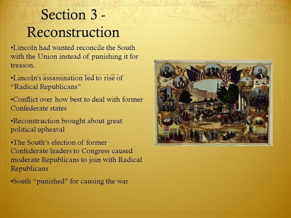 Section 3 - Reconstruction