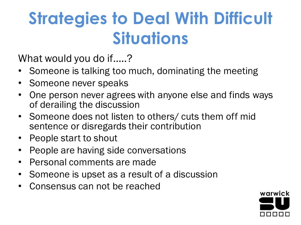 Strategies to Deal With Difficult Situations