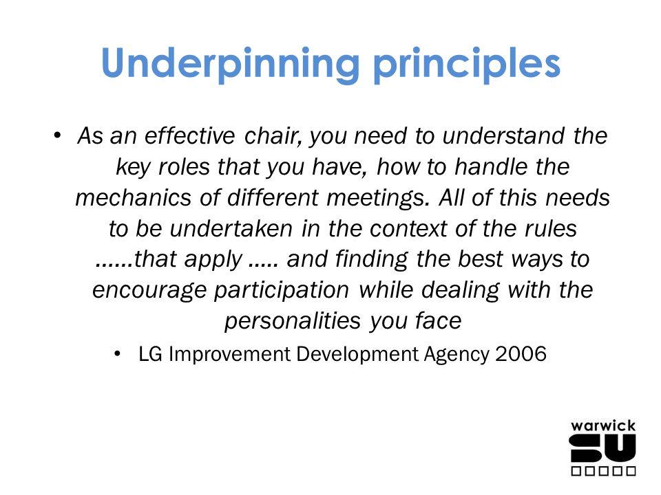 Underpinning principles