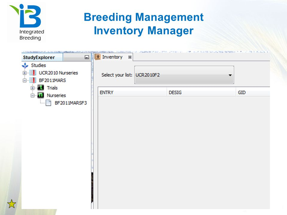 Breeding Management Inventory Manager
