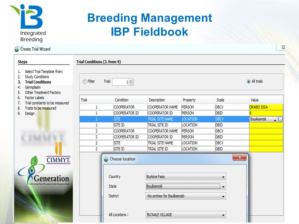 Breeding Management IBP Fieldbook