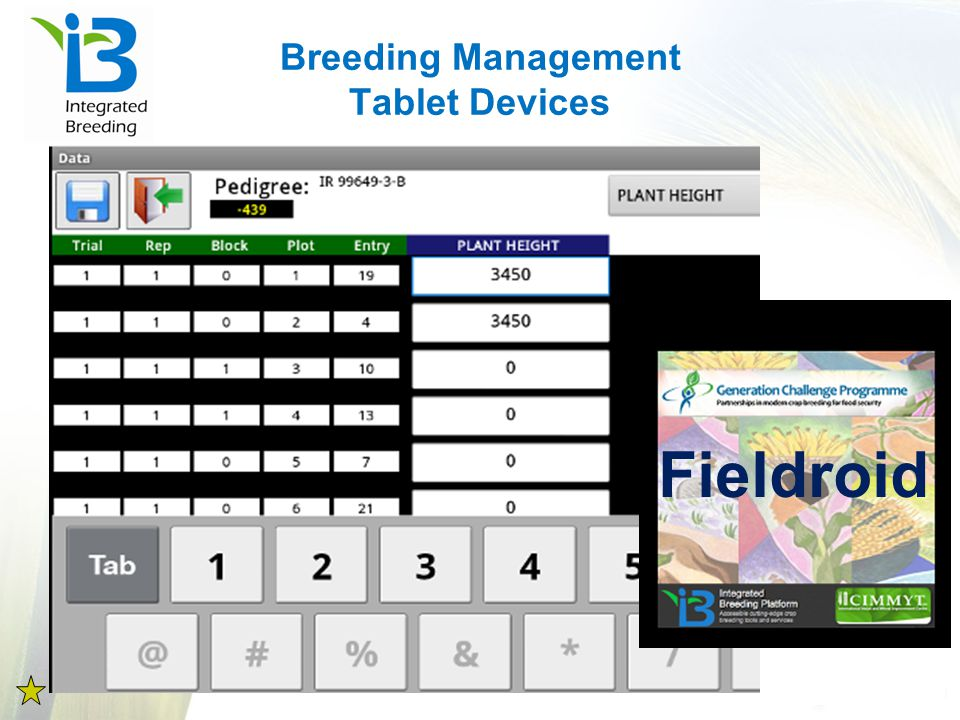 Breeding Management Tablet Devices