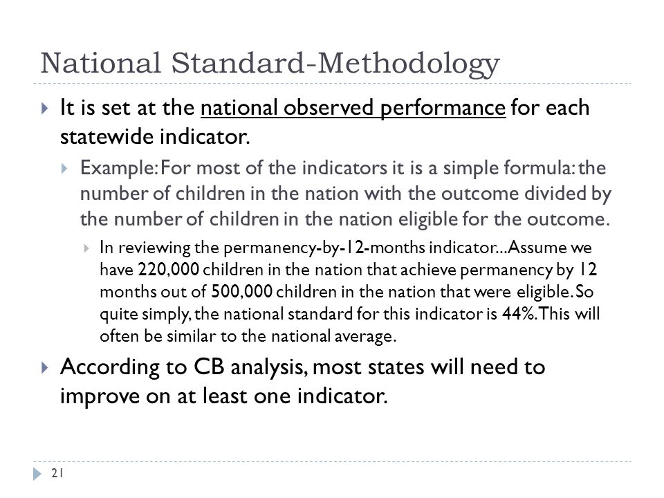 National Standard-Methodology
