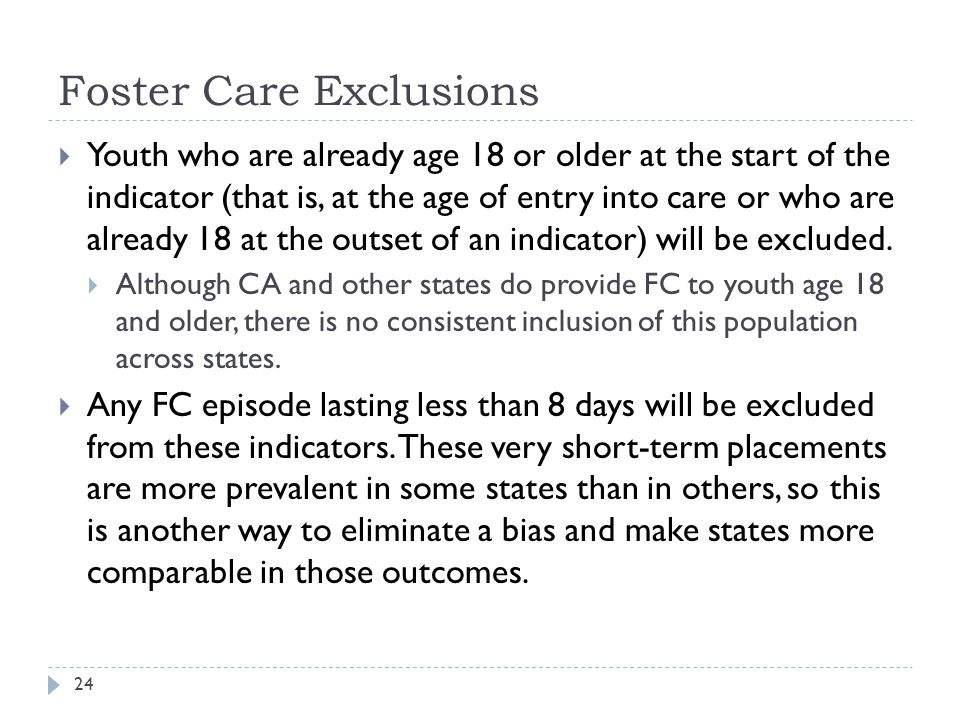 Foster Care Exclusions