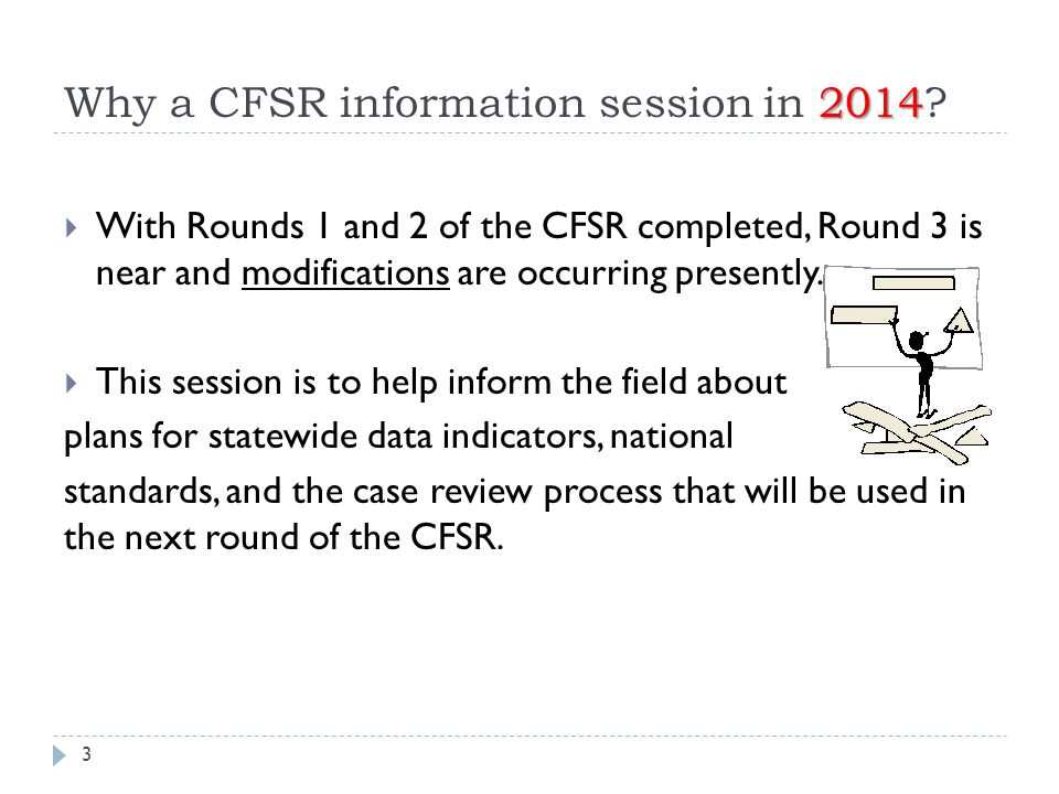 Why a CFSR information session in 2014