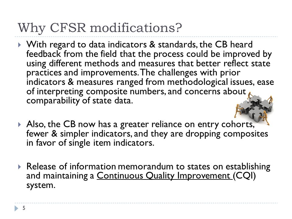 Why CFSR modifications