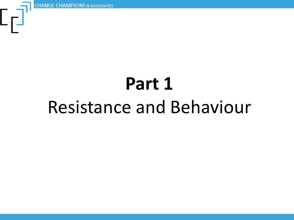 Part 1 Resistance and Behaviour