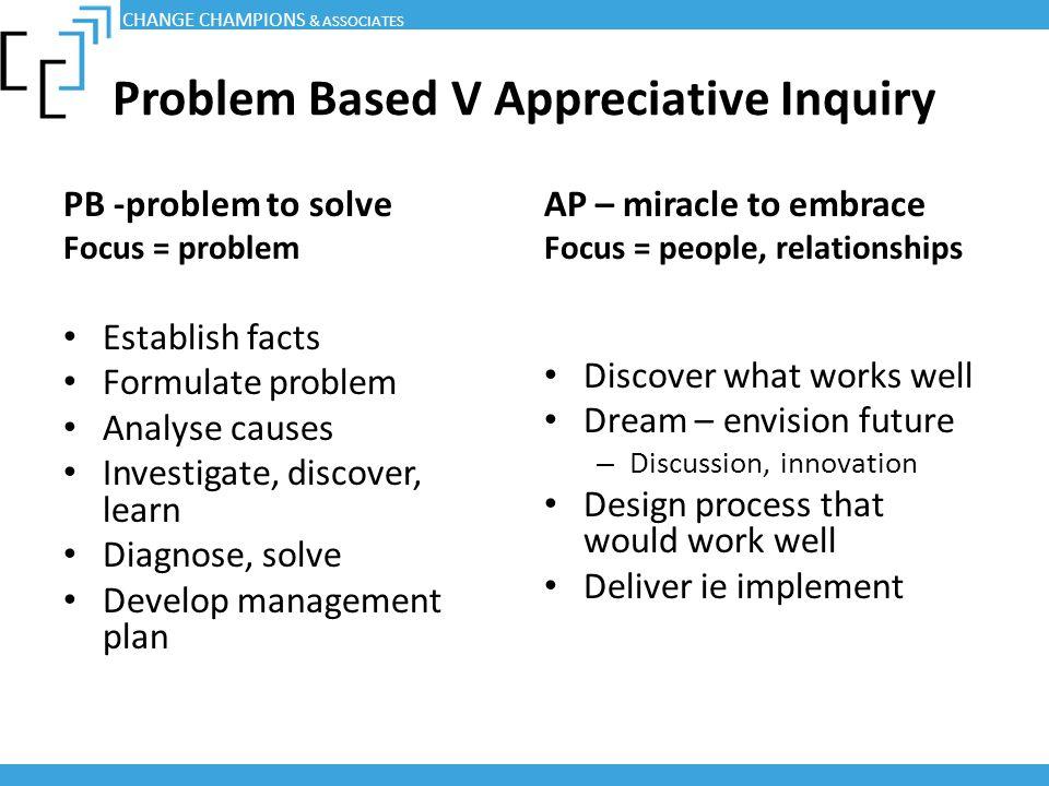 Problem Based V Appreciative Inquiry