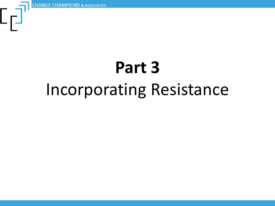Part 3 Incorporating Resistance