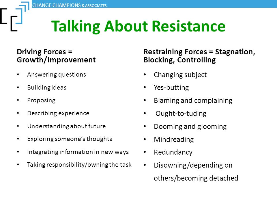 Talking About Resistance