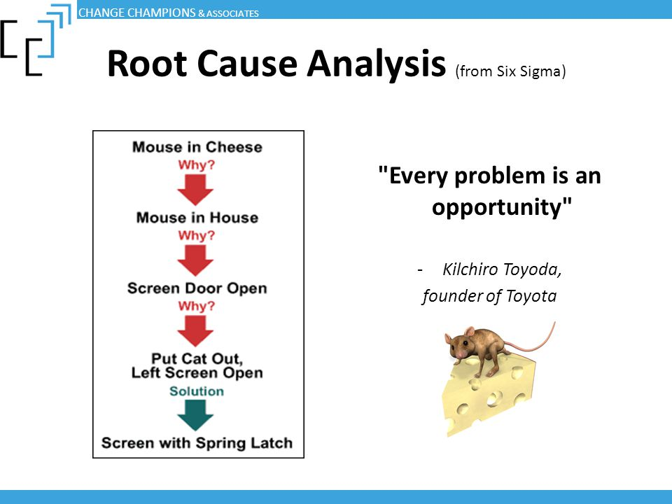 Root Cause Analysis (from Six Sigma)
