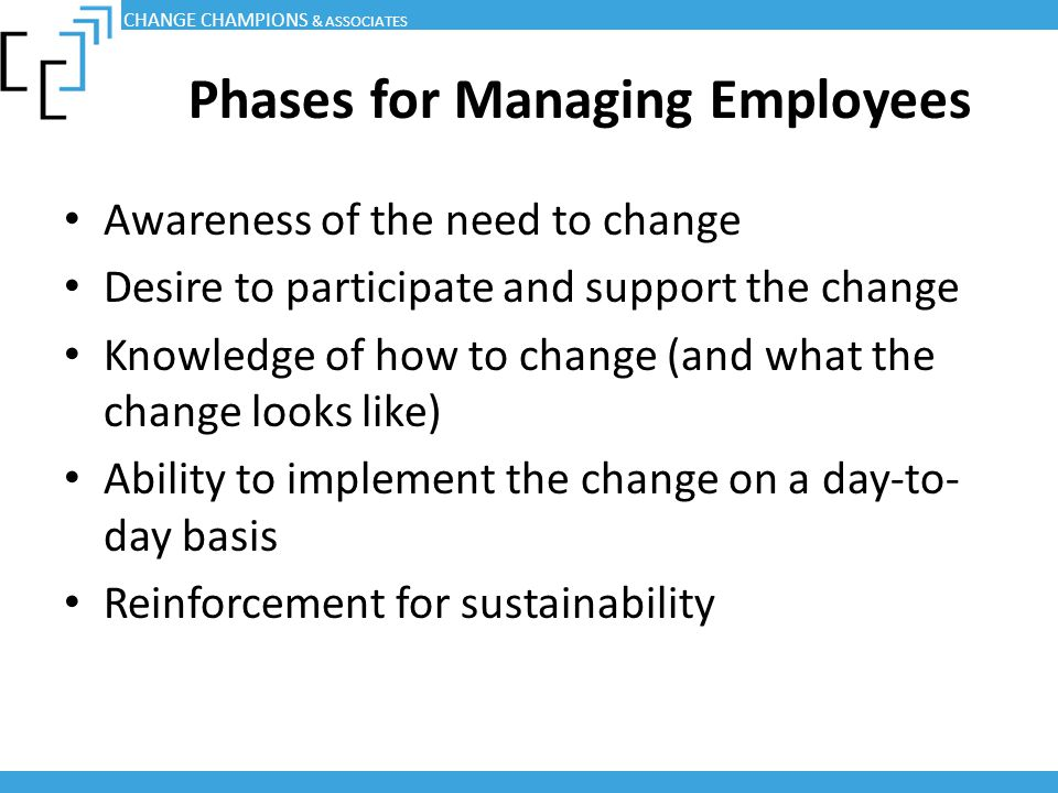 Phases for Managing Employees