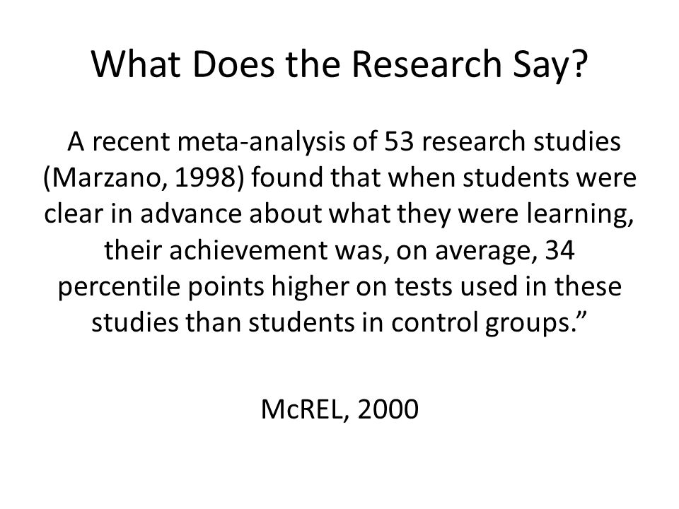 What Does the Research Say
