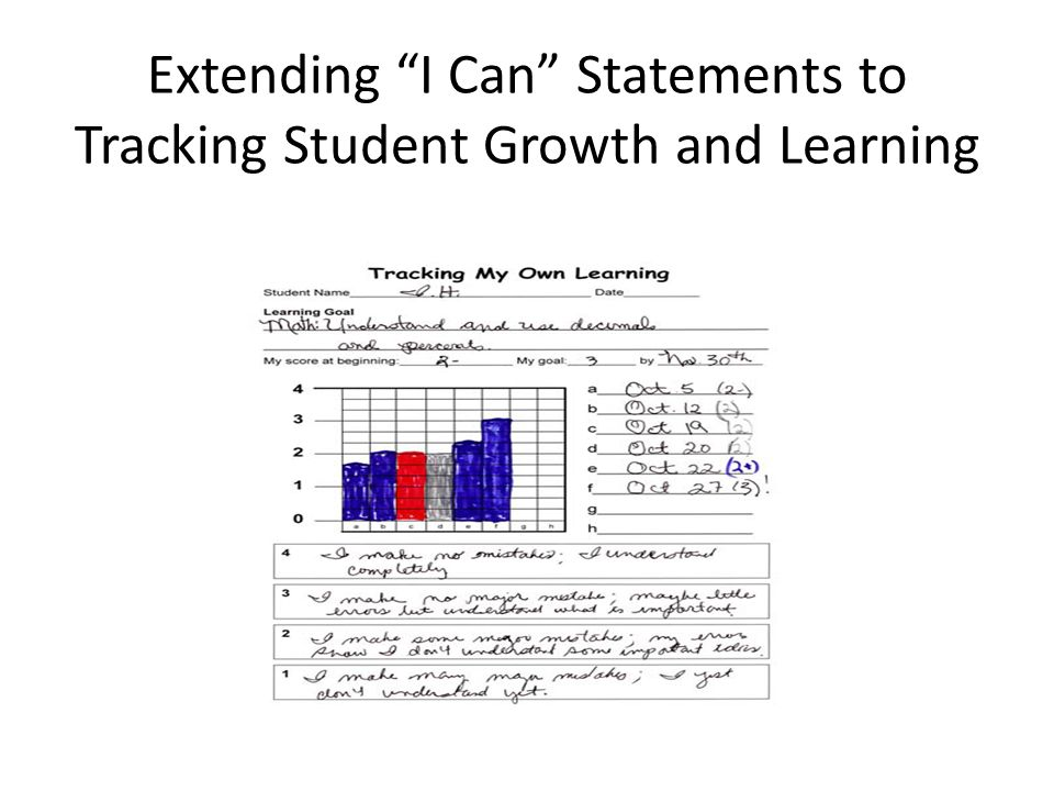 Extending I Can Statements to Tracking Student Growth and Learning