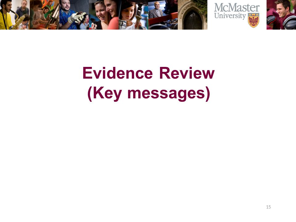 Evidence Review (Key messages)