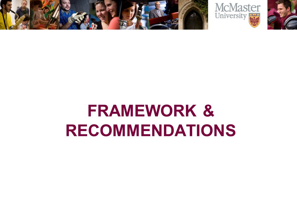 FRAMEWORK & RECOMMENDATIONS
