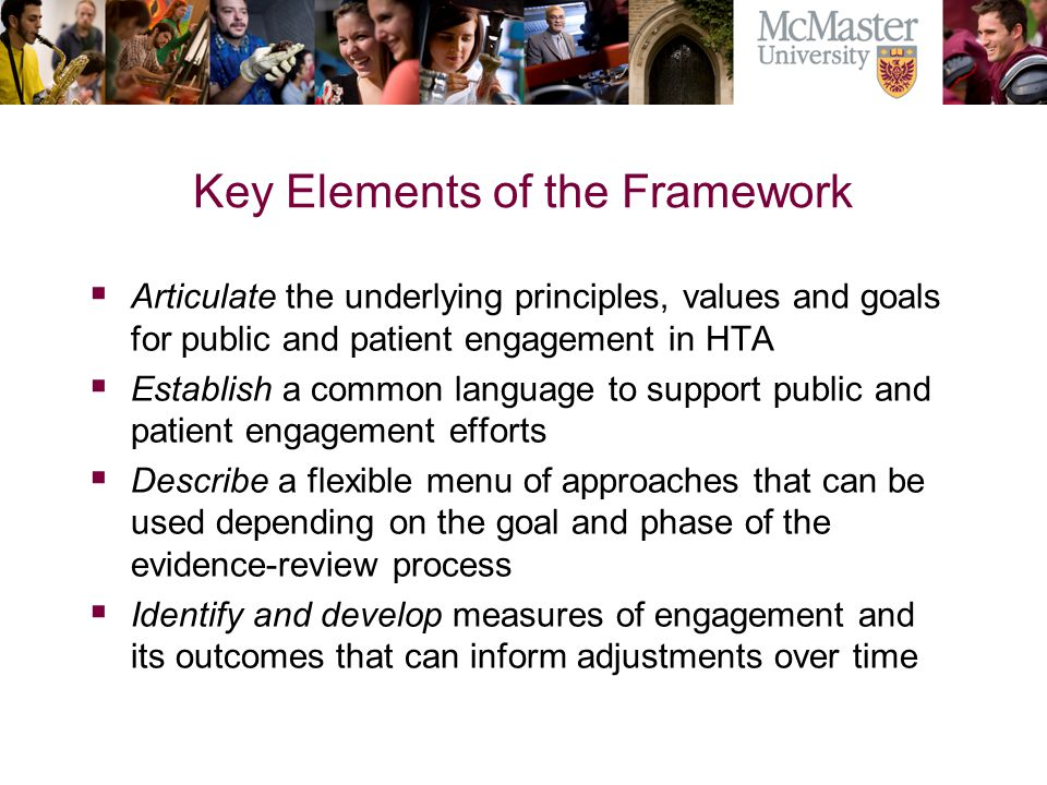 Key Elements of the Framework