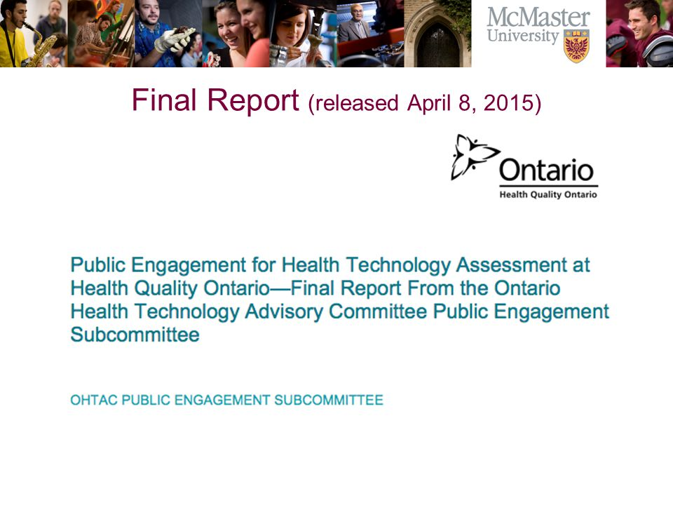 Final Report (released April 8, 2015)