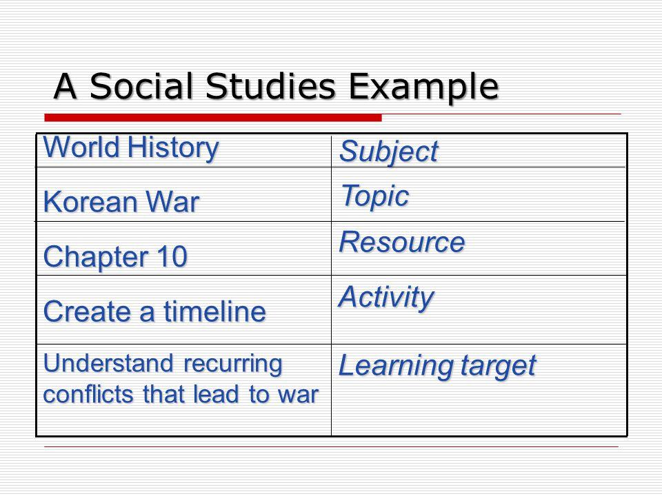 A Social Studies Example