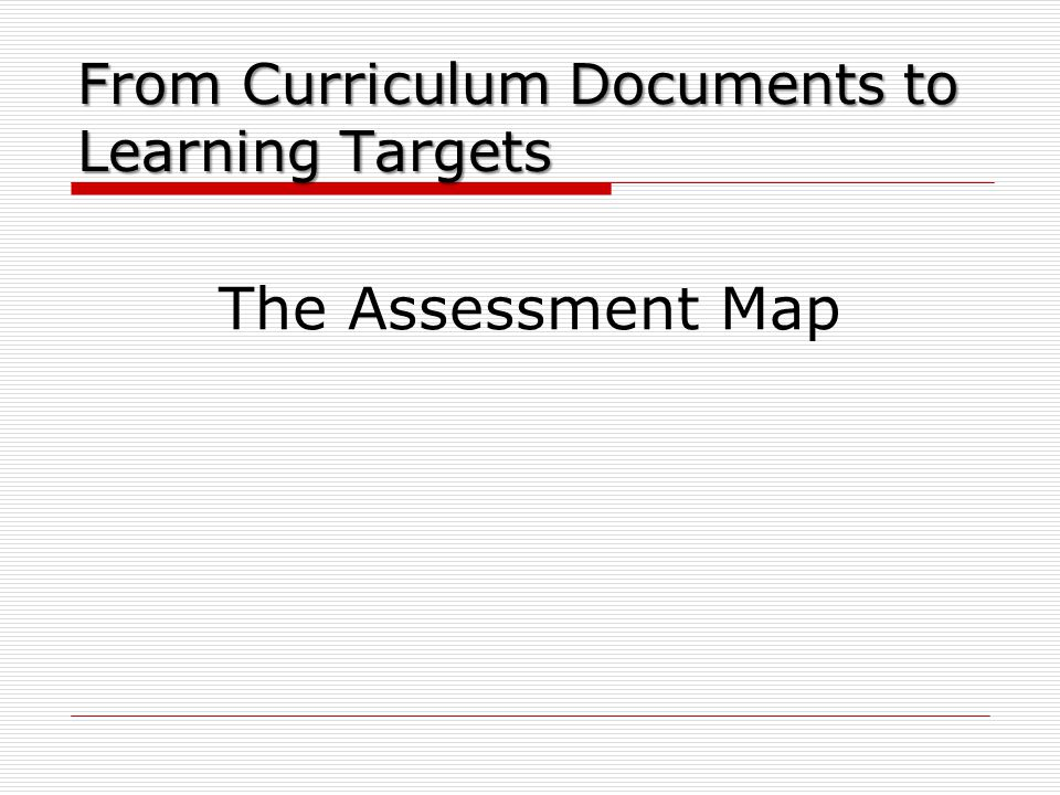 From Curriculum Documents to Learning Targets